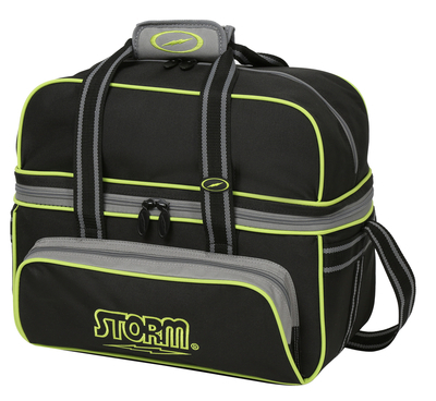 Storm 2 Ball Deluxe Tote Black/Grey/Lime
