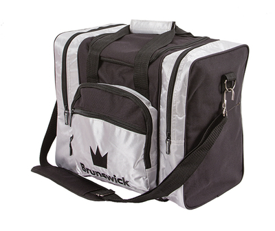 Brunswick Edge Black/Silver 1 Ball Bowling Bag