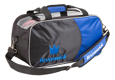 Brunswick Crown Black/Blue 2 Ball Tote