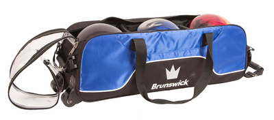 Brunswick Crown Black/Blue 3 Ball Tote Bowling Bag