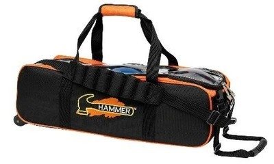 Hammer 3 Ball Tote Black/Orange Bowling Bag