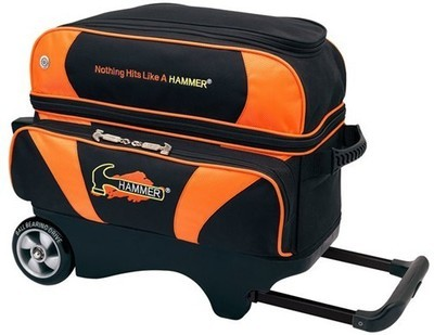 Hammer Premium Black/Orange 2 Ball Roller Bowling Bag