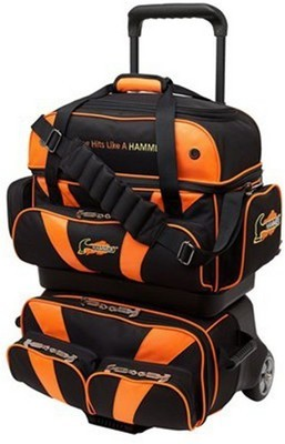 Hammer Premium Black/Orange 4 Ball Roller Bowling Bag