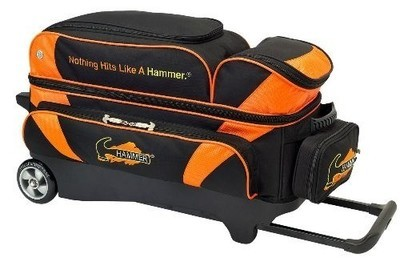 Hammer Premium Black/Orange 3 Ball Roller Bowling Bag