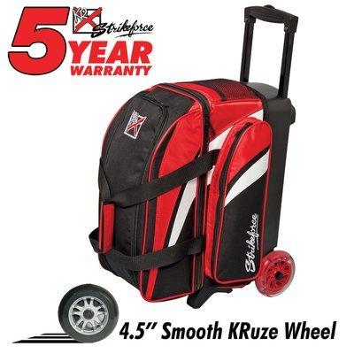 KR Cruiser Smooth 2 Ball Roller Black/White/Red Bowling Bag