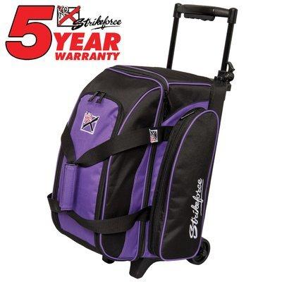 KR Eliminator Black/Purple 2 Ball Roller Bowling Bag