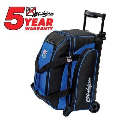 KR Eliminator Black/Blue 2 Ball Roller Bowling Bag