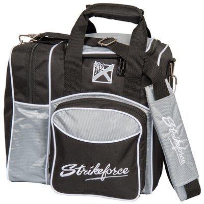 KR Strikeforce Flexx Black/Silver 1 Ball Tote Bowling Bag