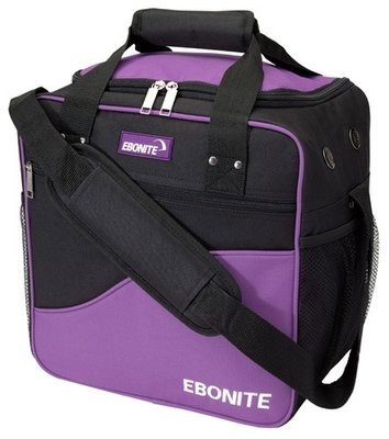 Ebonite Basic Single Purple/Black 1 Ball Bowling Bag