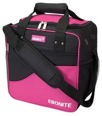 Ebonite Basic Single Pink/Black 1 Ball Bowling Bag