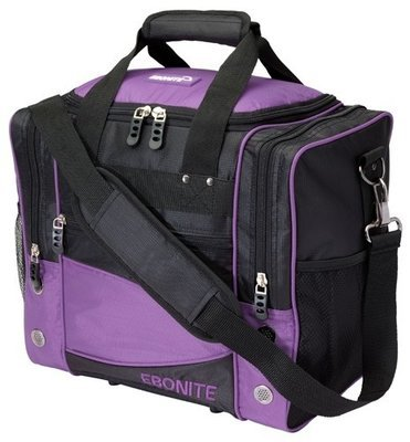 Ebonite Impact Single Purple/Black 1 Ball Bowling Bag