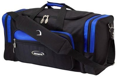 Ebonite Conquest Black/Blue 2 Ball Bowling Bag