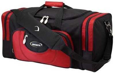 Ebonite Conquest Black/Red 2 Ball Bowling Bag