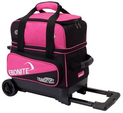 Ebonite Transport Single Roller Black/Pink 1 Ball Bowling Bag