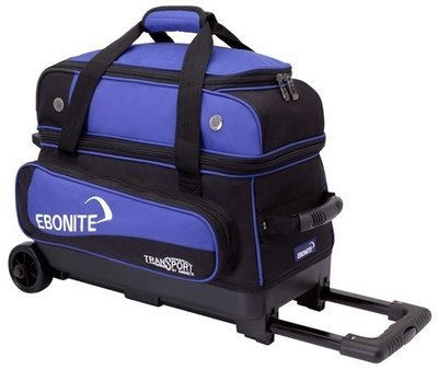 Ebonite Transport Double Roller Black/Blue 2 Ball Bowling Bag