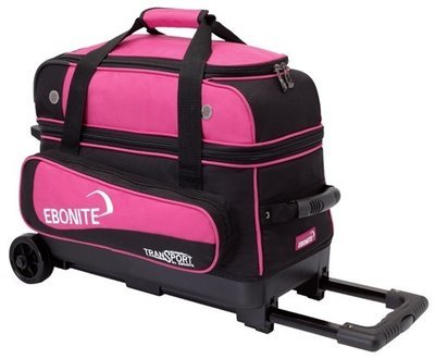 Ebonite Transport Double Roller Black/Pink 2 Ball Bowling Bag