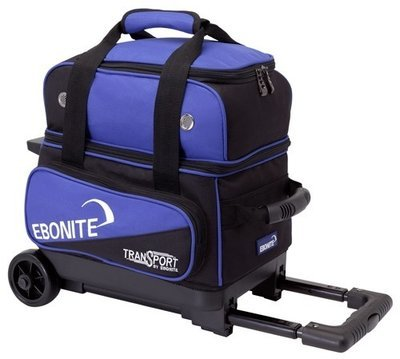 Ebonite Transport Single Roller Black/Blue 1 Ball Bowling Bag