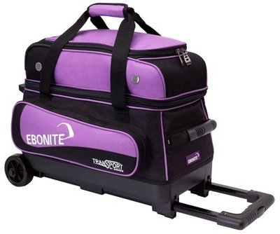 Ebonite Transport Double Roller Black/Purple 2 Ball Bowling Bag
