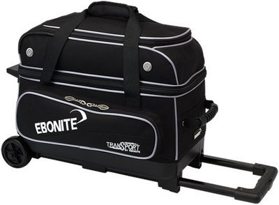 Ebonite Transport Double Roller Black 2 Ball Bowling Bag
