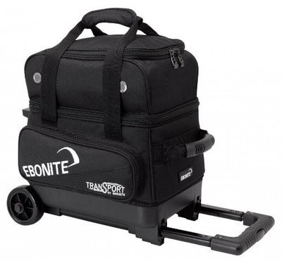 Ebonite Transport Single Roller Black 1 Ball Bowling Bag