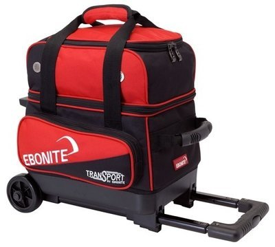 Ebonite Transport Single Roller Black/Red 1 Ball Bowling Bag