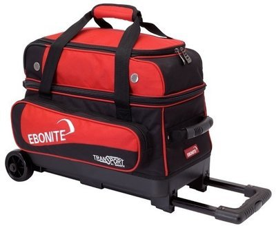 Ebonite Transport Double Roller Black/Red 2 Ball Bowling Bag