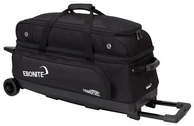 Ebonite Transport Triple Black 3 Ball Bowling Bag