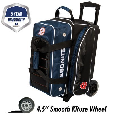 Ebonite Eclipse Navy 2 Ball Roller Bowling Bag