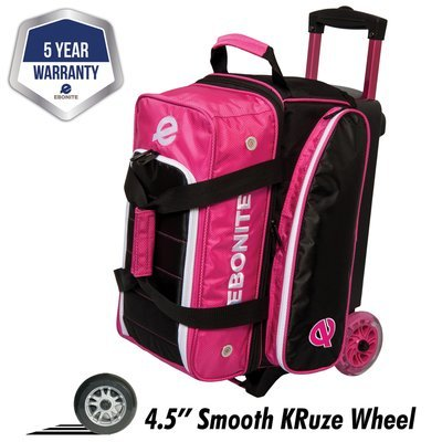 Ebonite Eclipse Pink 2 Ball Roller Bowling Bag