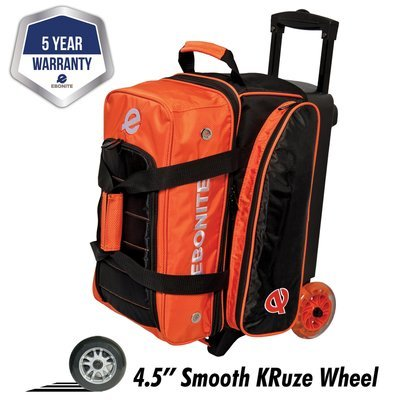 Ebonite Eclipse Orange 2 Ball Roller Bowling Bag