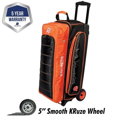 Ebonite Eclipse Orange/Black 3 Ball Roller Bowling Bag