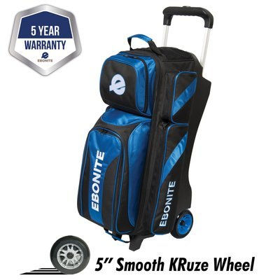 Ebonite Equinox Black/Blue 3 Ball Roller Bowling Bag