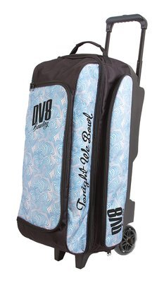 DV8 Freestyle Blue Swirl 3 Ball Roller Bowling Bag