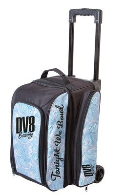 DV8 Freestyle Blue Swirl 2 Ball Roller Bowling Bag