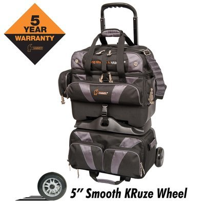 Hammer Premium Black/Carbon 4 Ball Roller Bowling Bag