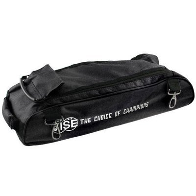 Vise 3 Ball Clear Top Tote Roller Shoe Bag Black