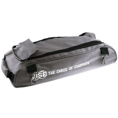 Vise 3 Ball Clear Top Tote Roller Shoe Bag Grey
