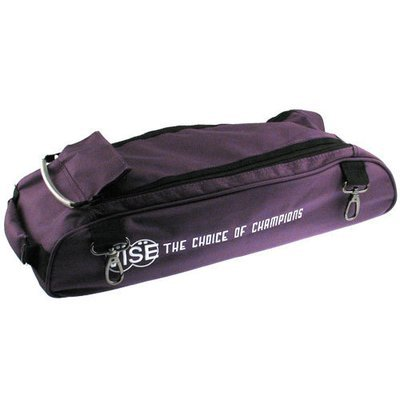 Vise 3 Ball Clear Top Tote Roller Shoe Bag Purple