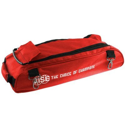 Vise 3 Ball Clear Top Tote Roller Shoe Bag Red