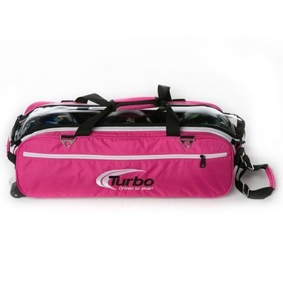 Turbo Express Pink 3 Ball Tote Bowling Bag