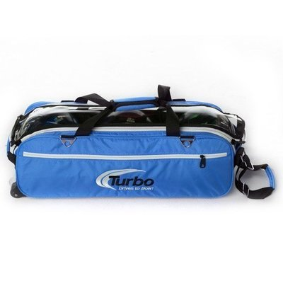 Turbo Express Blue 3 Ball Tote Bowling Bag