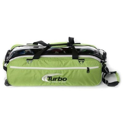 Turbo Express Green 3 Ball Tote Bowling Bag