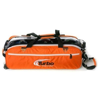 Turbo Express Orange 3 Ball Tote Bowling Bag