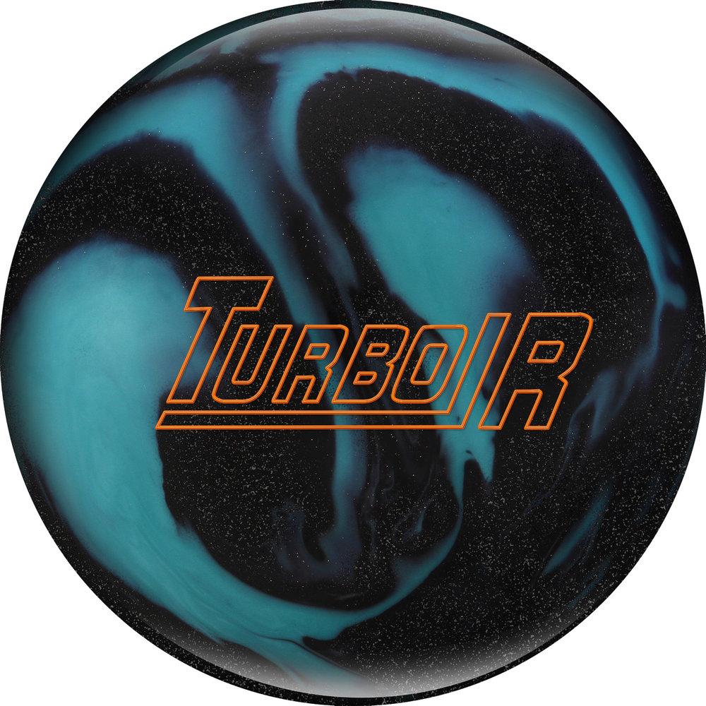 Ebonite Turbo R Black Sparkle/Aqua Bowling Ball 1077