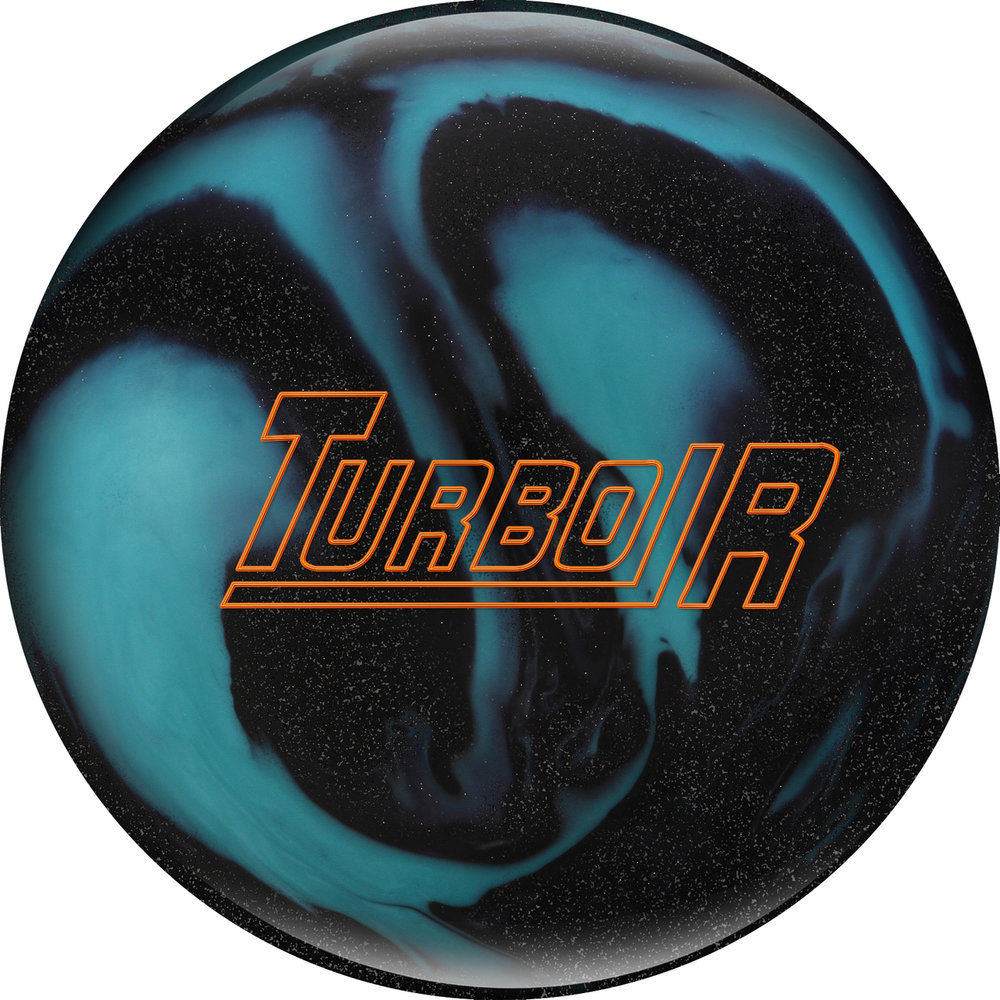 Ebonite Turbo R Black Sparkle/Aqua Bowling Ball