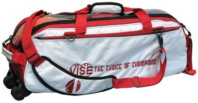 Vise 3 Ball Clear Top Tote Roller White/Red