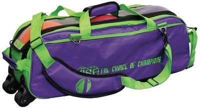 Vise 3 Ball Clear Top Tote Roller Purple/Green