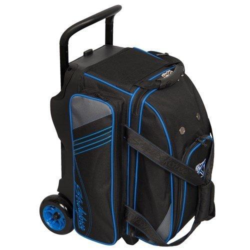 KR Strikeforce Lane Rover Black/Grey/Blue 2 Ball Roller Bowling Bag