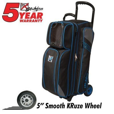 KR Strikeforce Lane Rover Black/Grey/Blue 3 Ball Roller Bowling Bag