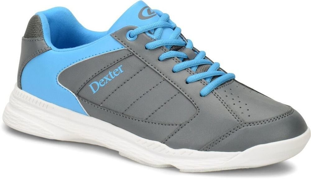 Dexter Mens Ricky IV Grey/Blue Bowling Shoes 102